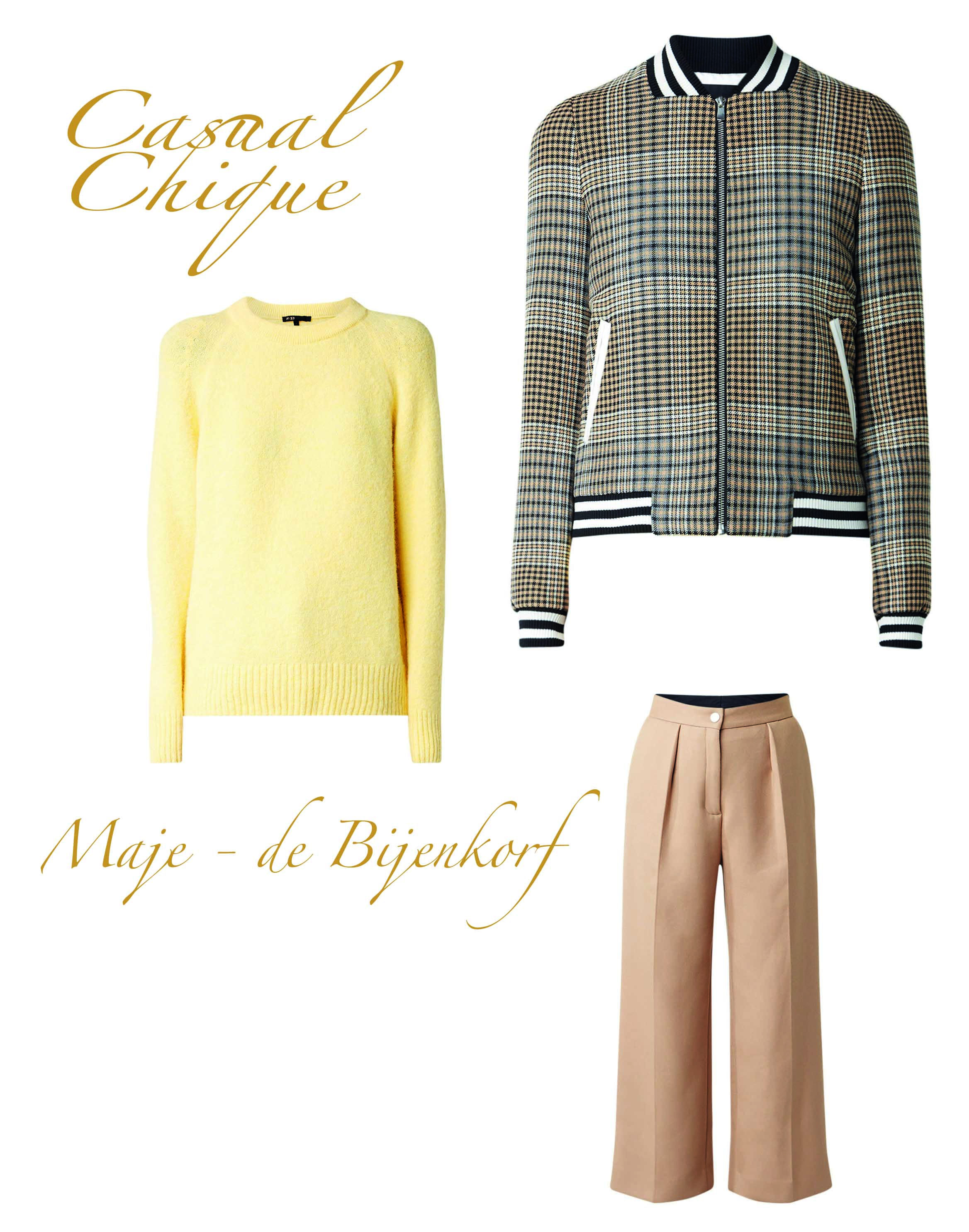 How to wear: de check print