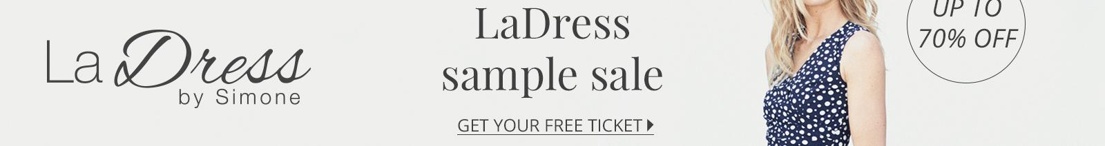 Hoge kortingen tijdens de sample sale van LaDress. Ben jij er bij?