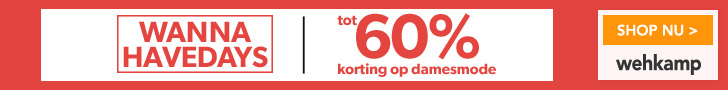 Tot 60% korting op fashion bij Wehkamp